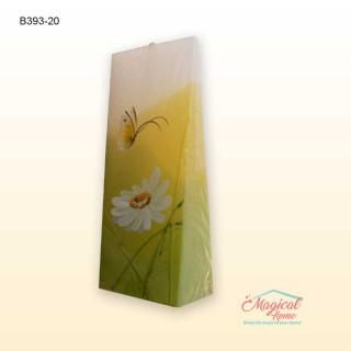 Lumânare pictată manual prismă 20cm B393
