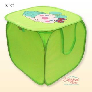 Sac textil depozitare 45x45cm SJ1-07 verde omidă