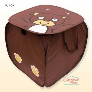Sac textil depozitare 45x45cm SJ1-09 maro ursuleț