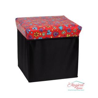 Cutie depozitare tip taburet, 30x30x30cm CD2-06 decor pietre preţioase
