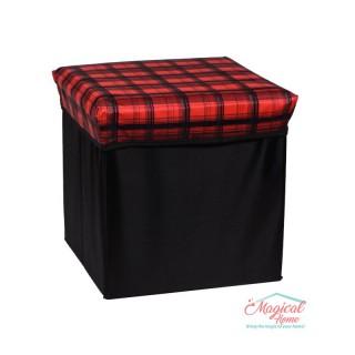 Cutie depozitare tip taburet, 30x30x30cm CD2-07 decor dungi