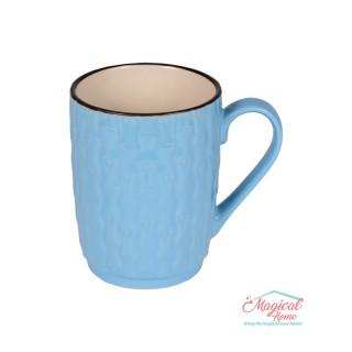 Cană ceramică decor uni H2H3-11 albastru