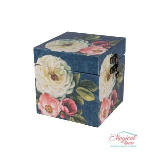 Cutie pentru bijuterii 2413029 din lemn, acoperită cu material textil