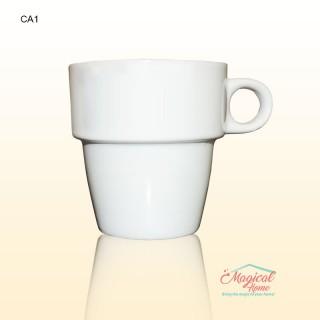Cana ceramica CA1 decor uni, culoare alba