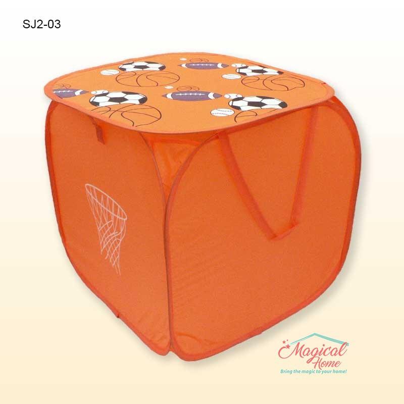 Sac depozitare jucarii baie 35x35cm sac jucarii portocaliu mingii SJ2-03