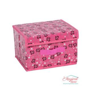 Cutii depozitare pliabile 25x20x16.5cm decor floral CD11-02
