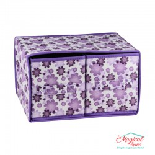 Set cutii depozitare CD6-02 mov decor floral