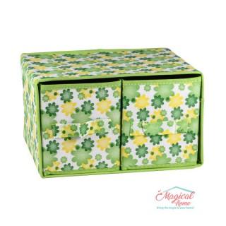 Set cutii depozitare CD6-03 verde decor floral