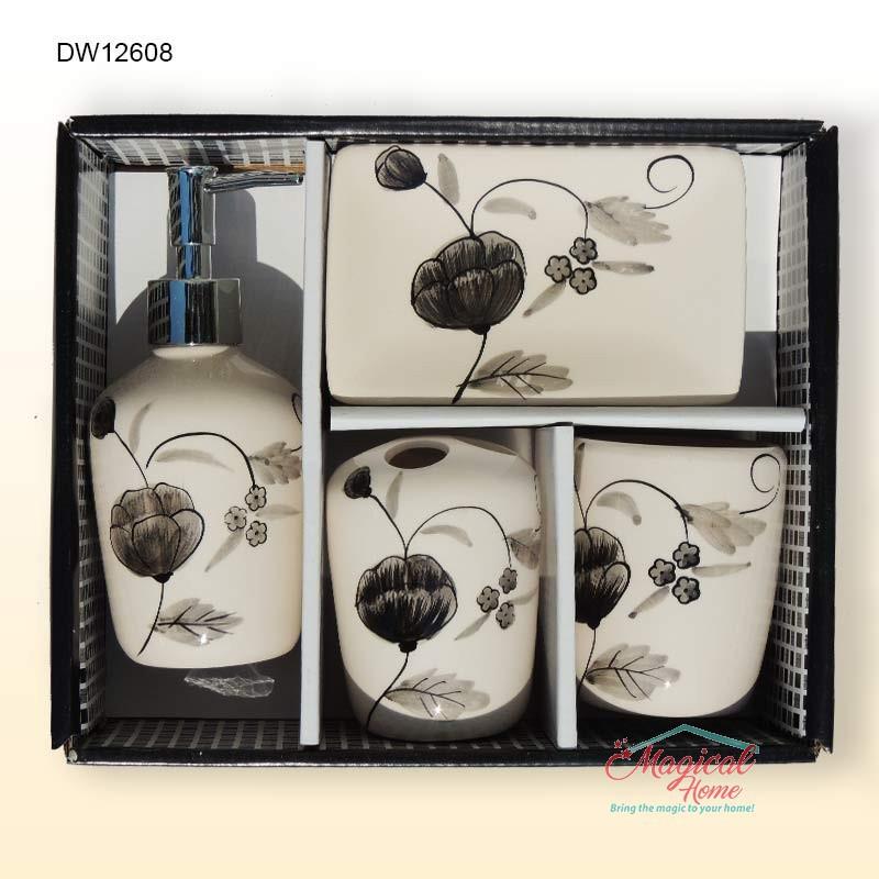 Set ceramic pentru baie DW12698 mod de ambalare