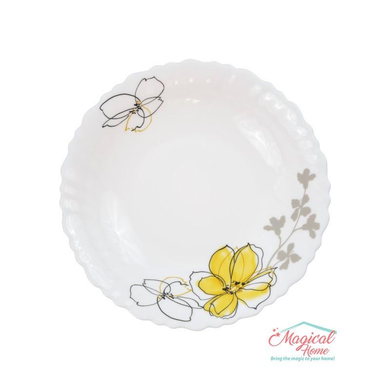Farfurie supă opal 578 decor floral