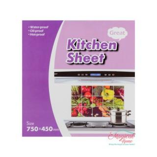 Folie protecție perete bucătărie 75x45cm 00650-12