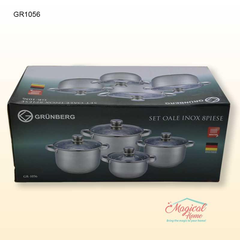 Set oale inox 8 piese GR1056 GRUNBERG mod ambalare