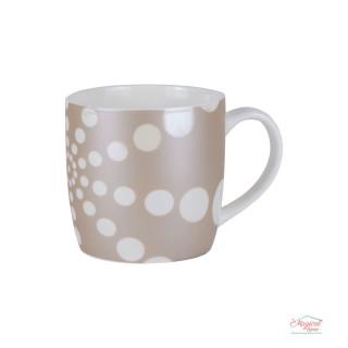 Cană ceramică CCF3-04 decor buline, sidefată