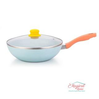 Tigaie wok aluminiu 24 cm GR348 Grunberg, bleu