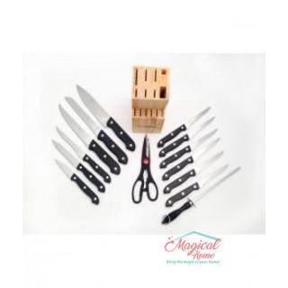 Set cuțite în suport , 15 piese, Grunberg GR2515