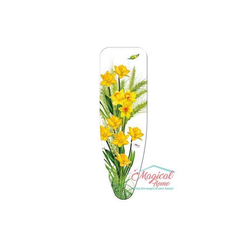 """Husă pentru masa de călcat """"M"""" 125x40 cm decor Narcise"""