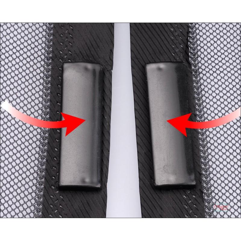 Plasa protectie tantari, pentru usi, neagra, inchidere cu magneti, 1m x 2.1 m