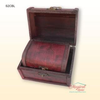 Set 2 casete pentru bijuterii, din lemn SCBL-2