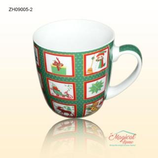 Cană ceramică ZH09005-2 decor Crăciun