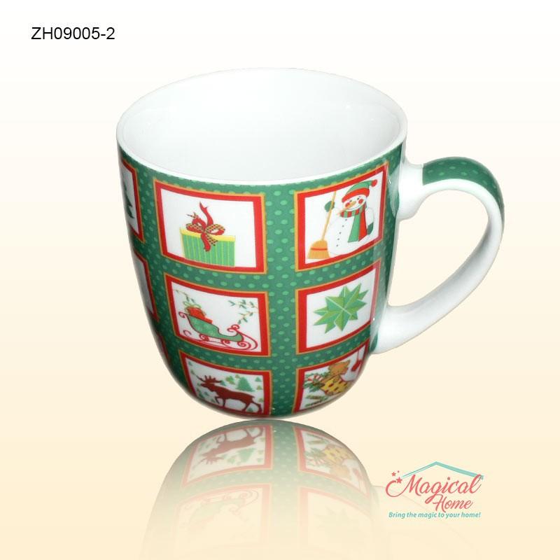 Cana ceramica ZH09005-2 decor Craciun