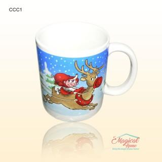 Cană ceramică CCC1 decor Crăciun