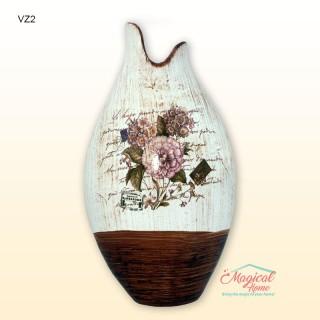 Vaza ceramica pentru flori VZ2, decor artistic