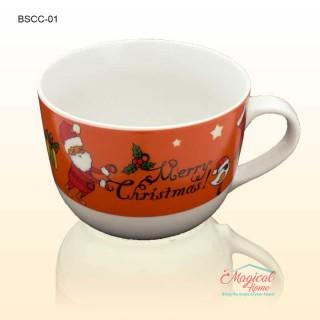Bol ceramic cu toartă decor Crăciun BSCC-01
