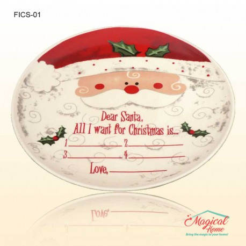 Farfurie intinsa decor Craciun Santa FICS-01 din ceramica