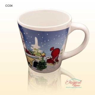 Cană ceramică decor Crăciun CC04